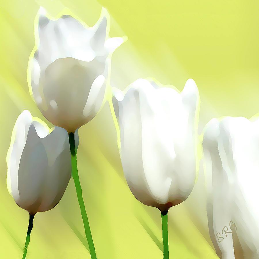 White Photograph - White Tulips by Ben and Raisa Gertsberg