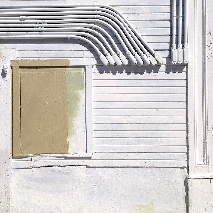 Wall Photograph - White Wall by Julie Gebhardt