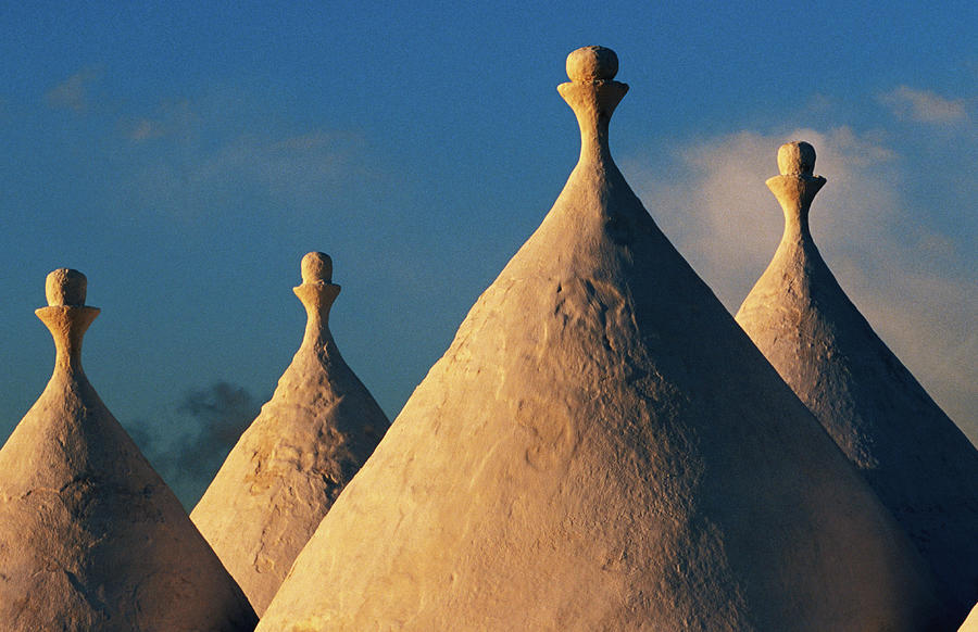 White-washed Trulli Roofs Photograph by Oliver Strewe
