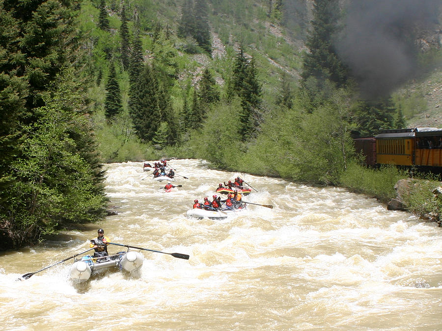 Animas River White Water Rafting The  Photograph by Jack Pumphrey