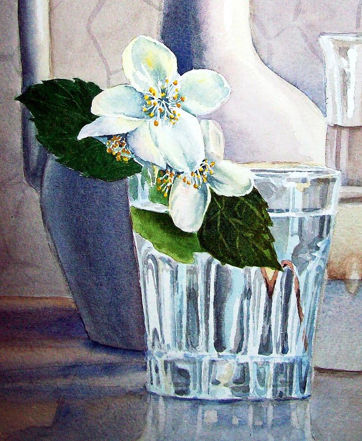 White Painting - White White Jasmine  by Irina Sztukowski