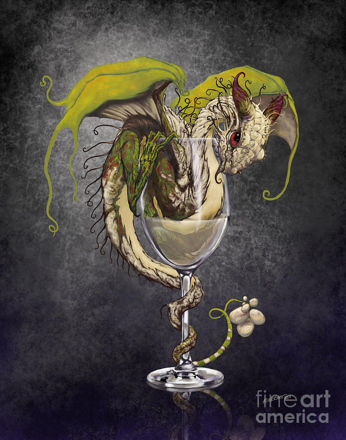 Dragon Digital Art - White Wine Dragon by Stanley Morrison