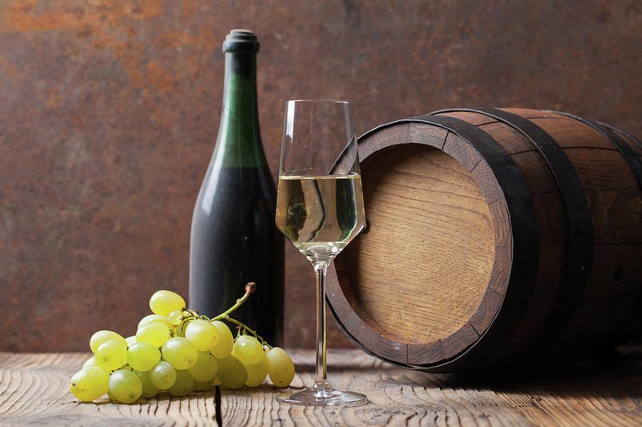White Wine Photograph by Sematadesign