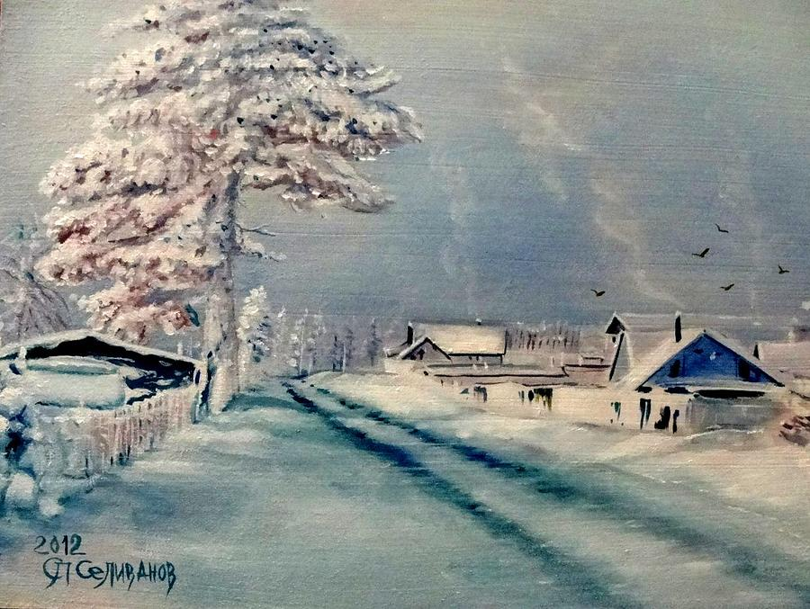 Tree Painting - White Winter by Sergey Selivanov