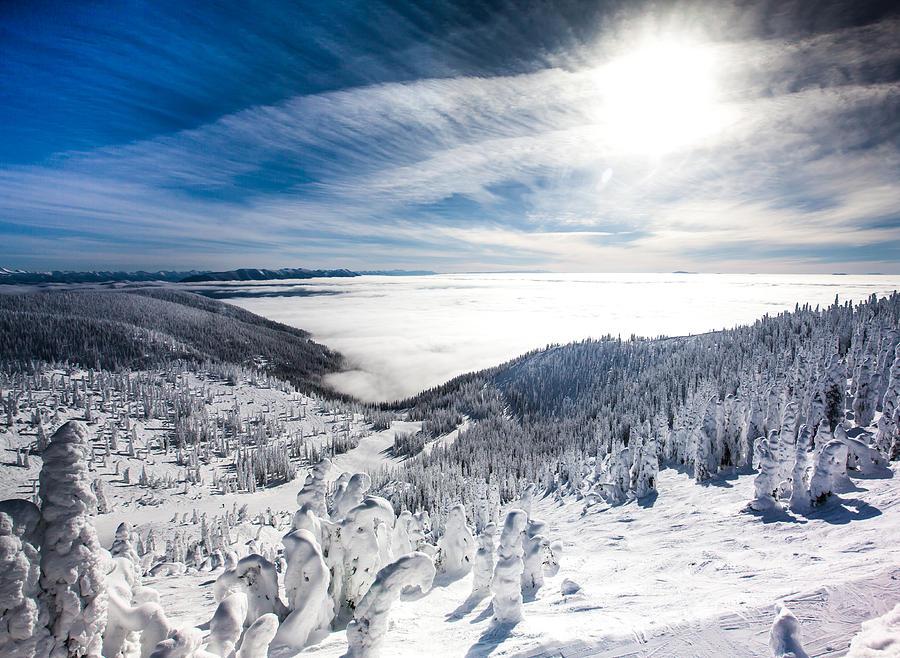 Sun Photograph - Whitefish Inversion by Aaron Aldrich