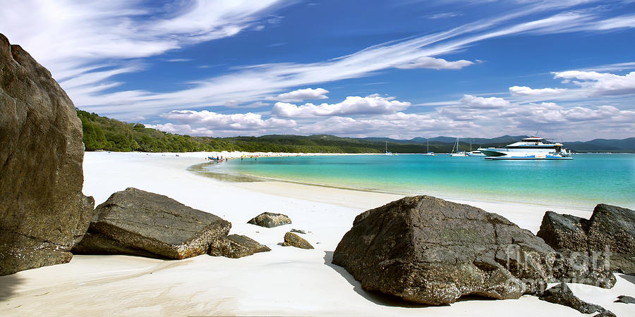 Whitehaven Beach Photograph - Whitehaven Beach by Shannon Rogers