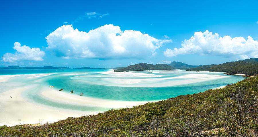 Whiteheaven beach Photograph by Naphakm