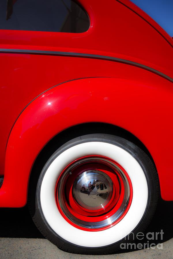 Car Photograph - Whitewalls Two by Edward Fielding