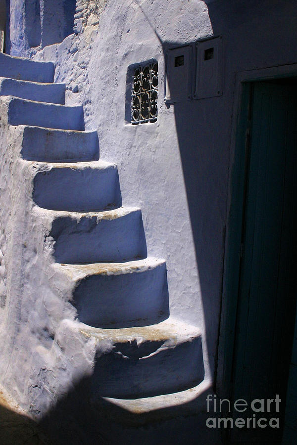 Asilah Photograph - Whitewashed Steps In The Medina Of Asilah On Northwest Tip Of Atlantic Coast Of Morocco by PIXELS  XPOSED Ralph A Ledergerber Photography