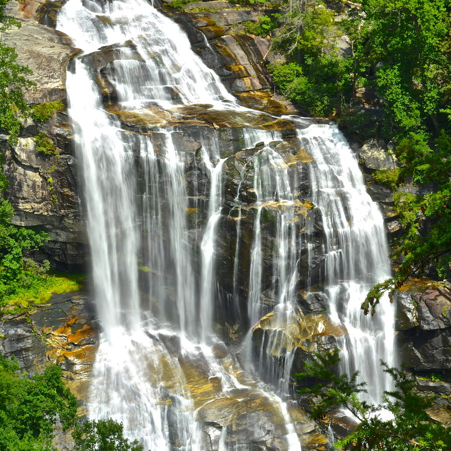 White Photograph - Whitewater Falls by Frozen in Time Fine Art Photography