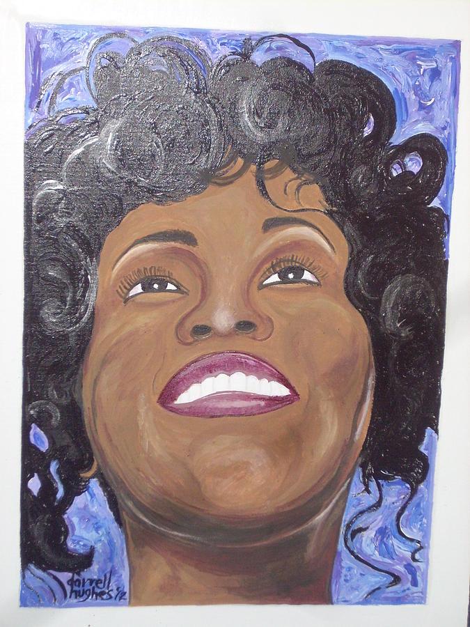 Whitney Houston Painting - Whitney by Darrell Hughes