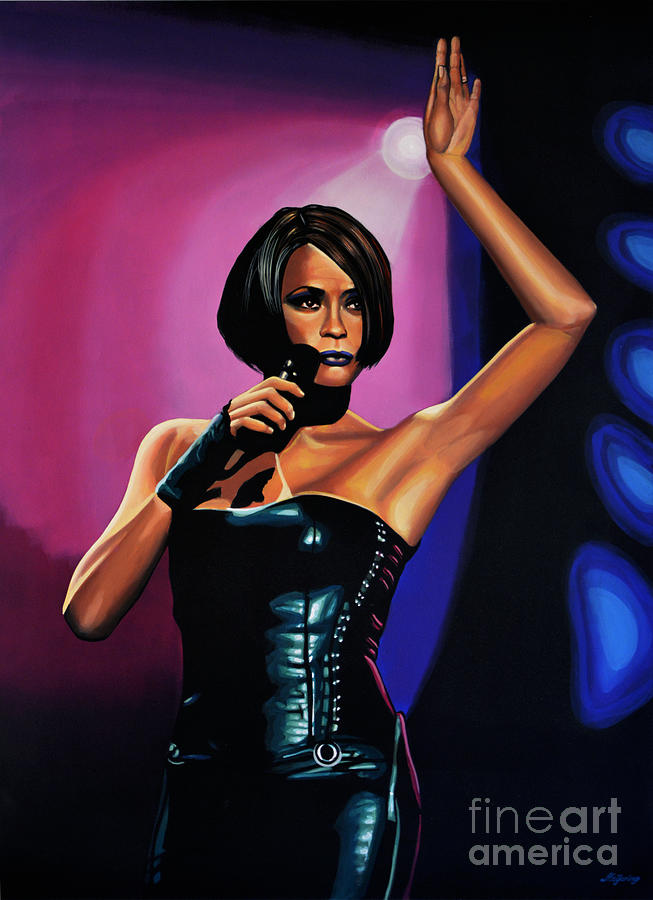 Whitney Houston Painting - Whitney Houston On Stage by Paul Meijering