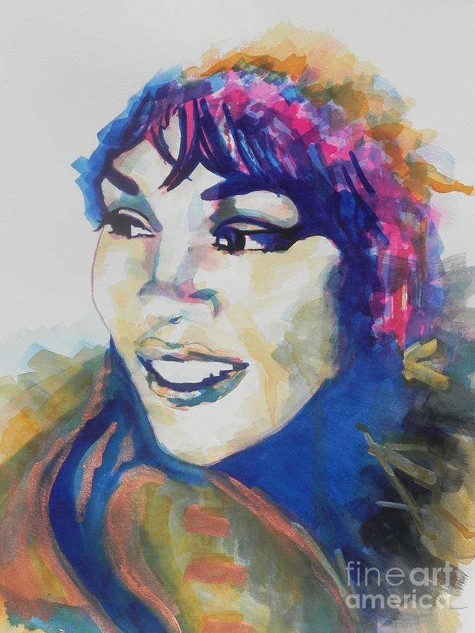 Watercolor Painting Painting - Whitney Houston by Chrisann Ellis