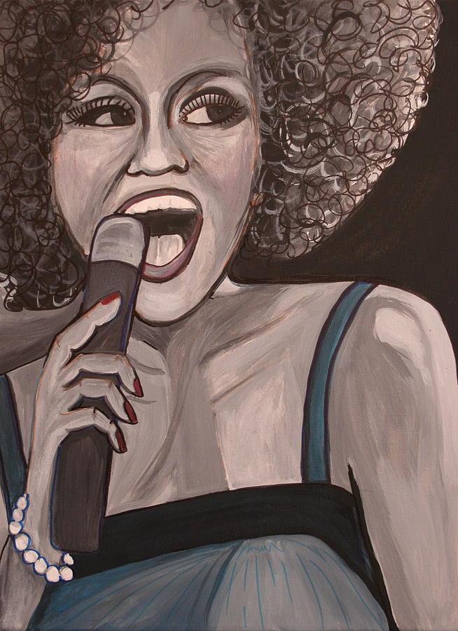 Whitney Houston Painting - Whitney Houston by Kate Fortin