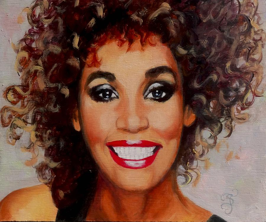 Young Whitney Houston Painting - Whitney by Shirl Theis