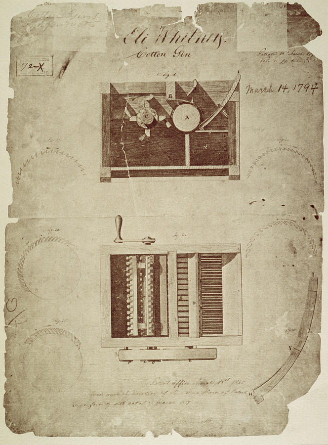 1794 Drawing - Whitneys Cotton Gin by Granger