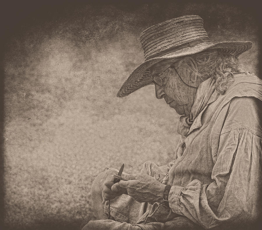 Whittling Photograph - Whittling by Pat Abbott
