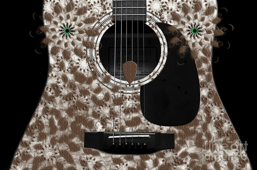 Abstract Photograph - Who Are You - Owl Abstract Guitar by Andee Design
