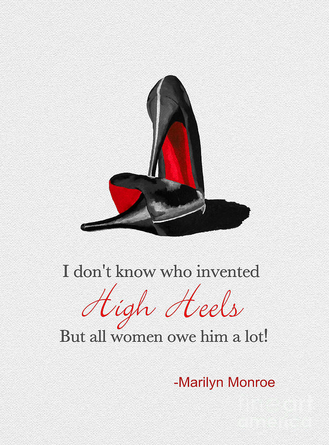 Christian Louboutin Mixed Media - Who Invented High Heels? by My Inspiration