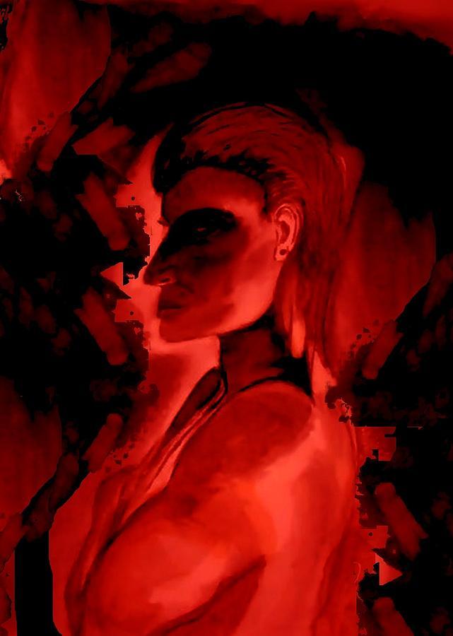 Semi Nude Man Digital Art - Who Is He Watching by Marian Hebert