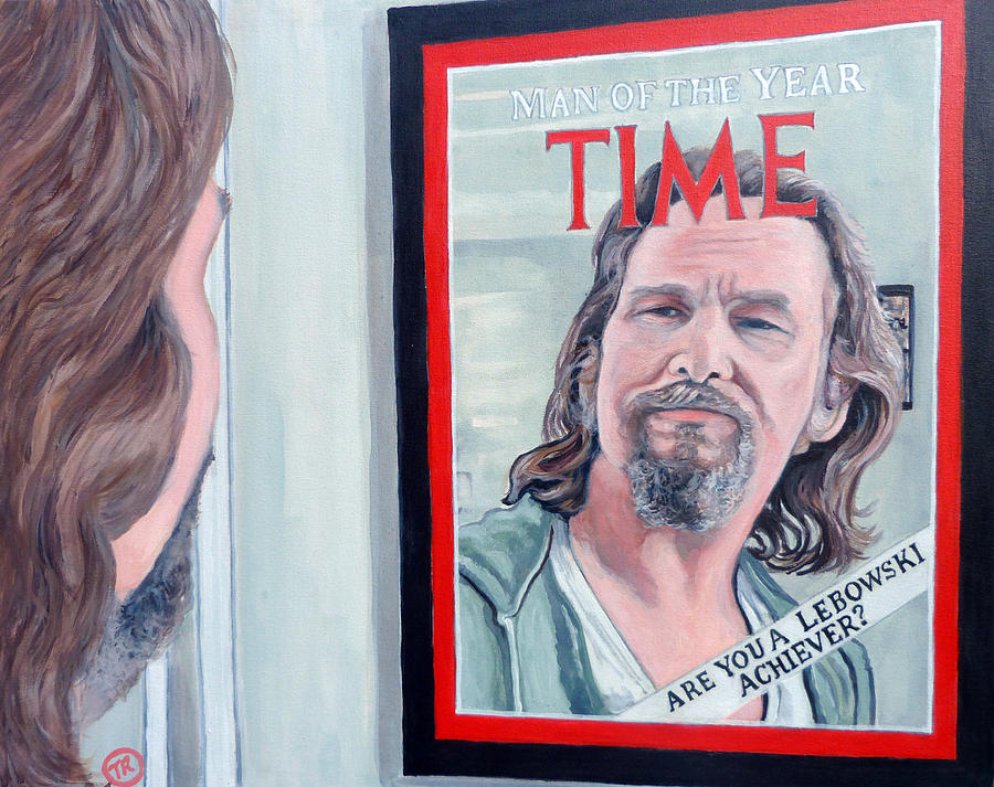 The Dude Painting - Who Is This Guy by Tom Roderick