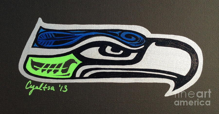 Seattle Seahawks Painting - Who Ready by A Cyaltsa Finkbonner