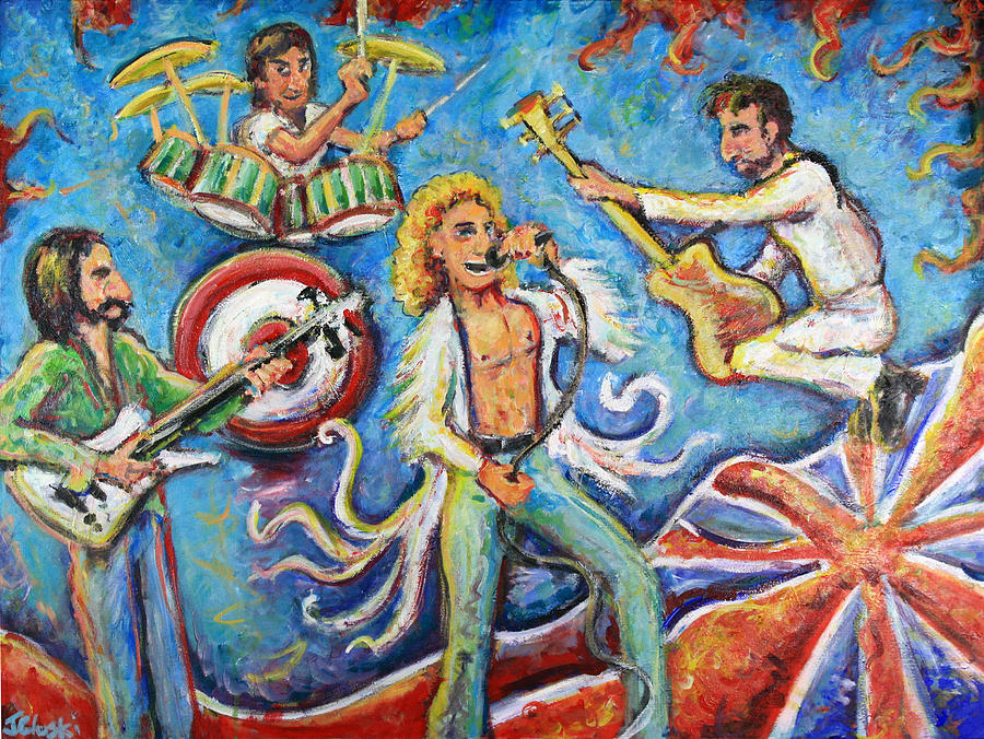 The Who Painting - Who The F-ck Are You? by Jason Gluskin