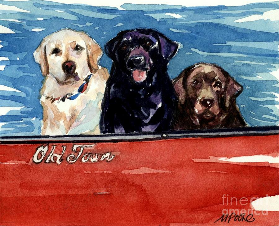 Labrador Retrievers Painting - Whole Crew by Molly Poole