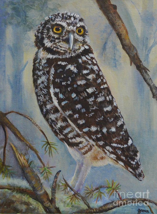 Owl Painting - Whoo Cares by Jana Baker