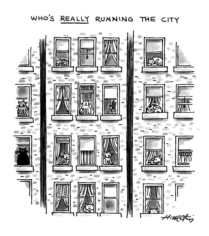 Whos Really Running The City Drawing by Henry Martin