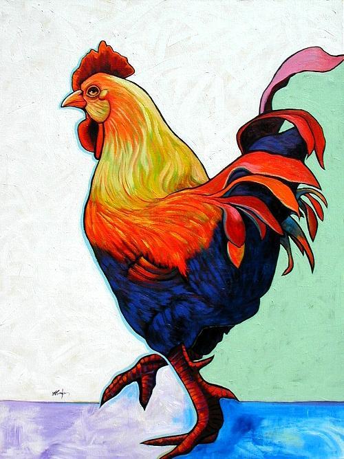 Wildlife Painting - Whos The Boss by Joe  Triano