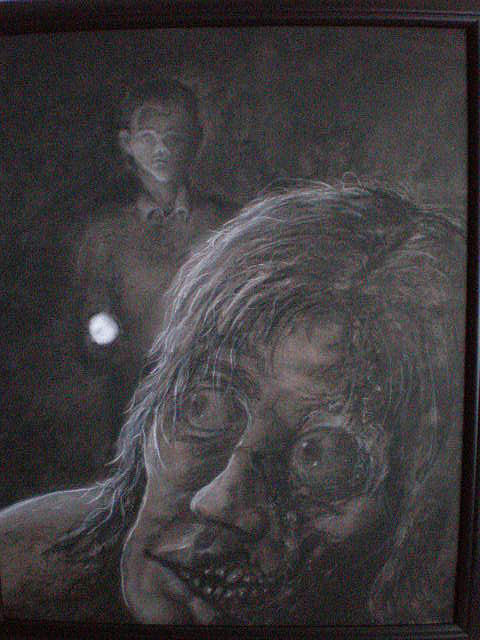 Dark Drawing - Whos There by Steve Spagnola