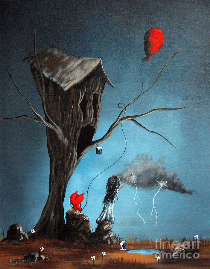 Gothic Painting - Why Are You So Mad By Shawna Erback by Shawna Erback