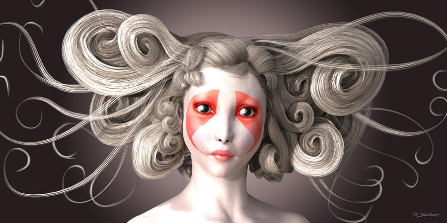 Woman Digital Art - Why by Britta Glodde