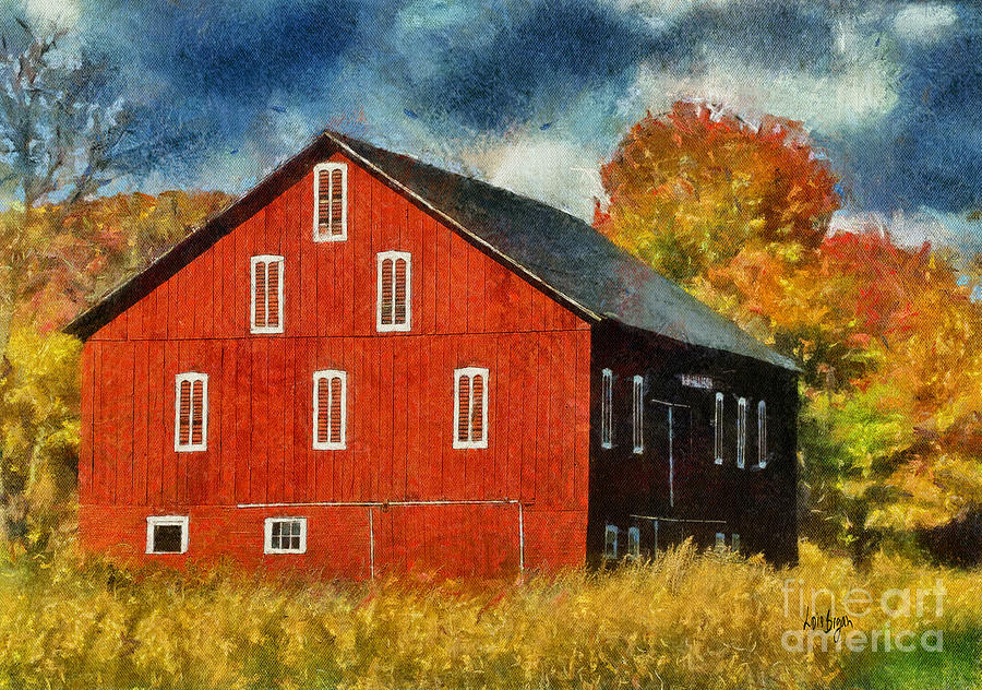 Barn Photograph - Why Do They Paint Barns Red? by Lois Bryan