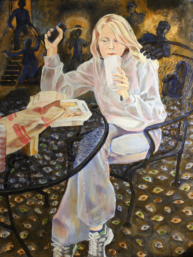 Girl Painting - Why Her by Janet Felts