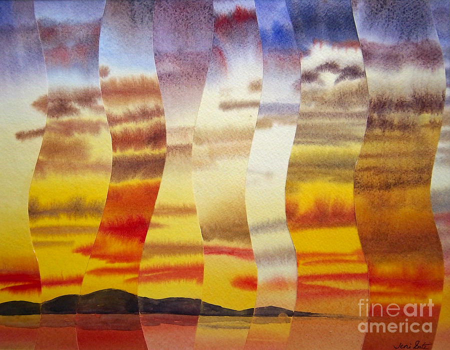 Sky Painting - Why I Love You by Jeni Bate