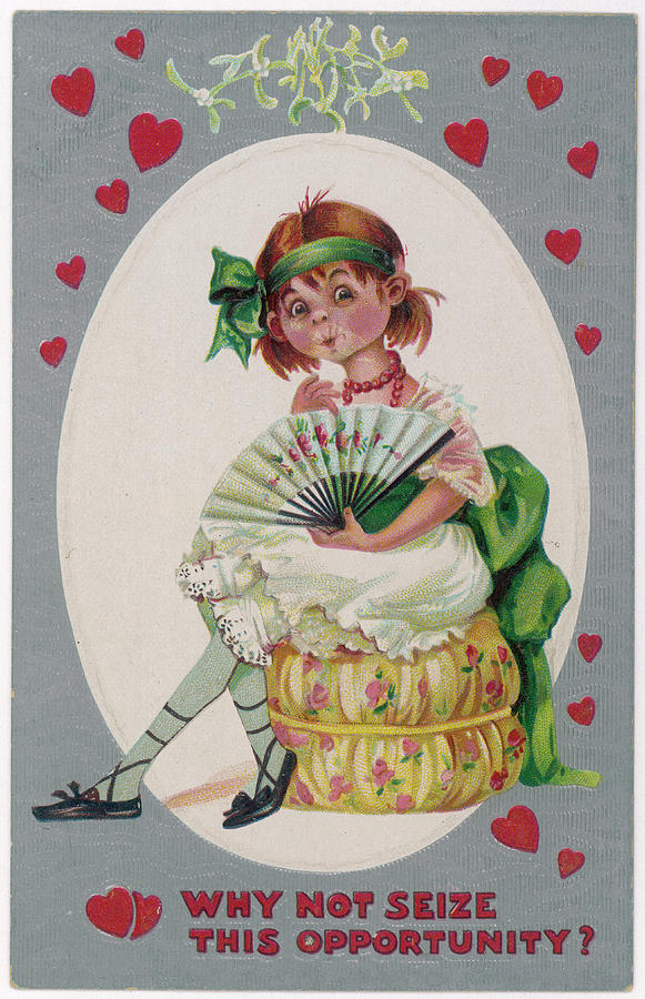 Valentine Drawing - Why Not Seize This Opportunity ? by Mary Evans Picture Library
