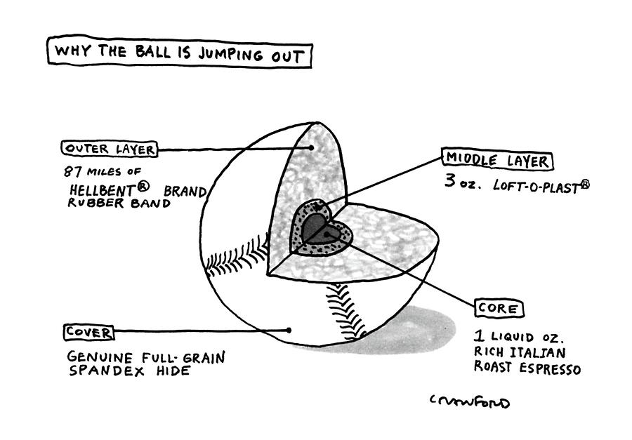 Why The Ball Is Jumping Drawing by Michael Crawford