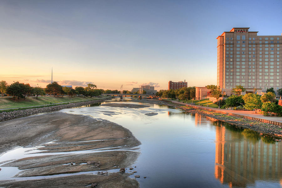 Arkansas River Photograph - Wichita by JC Findley