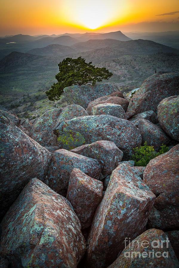 America Photograph - Wichita Mountains by Inge Johnsson
