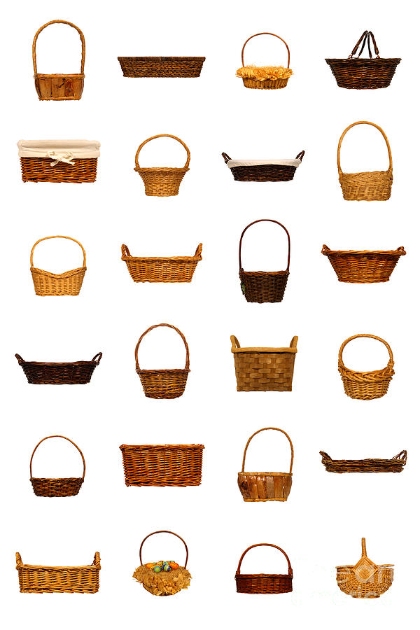 Basket Photograph - Wicker Basket Collection by Olivier Le Queinec