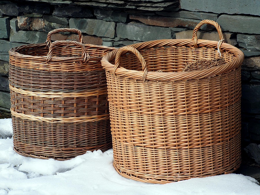 Next Woven Basket : Wicker baskets photograph by susan tinsley