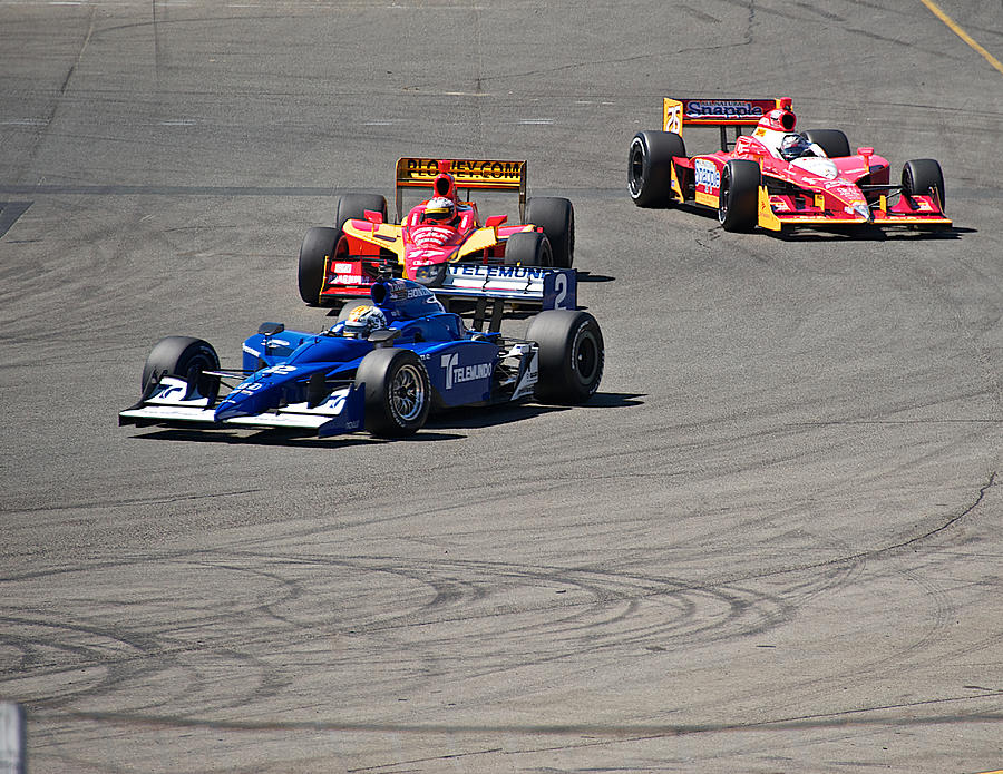Auto Photograph - Wide In Turn 9 by Dave Koontz