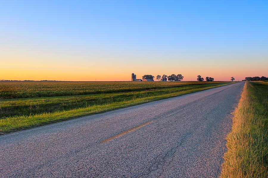 Scenic Photograph - Wide Open Roads - Rural Georgia Landscape by Mark E Tisdale