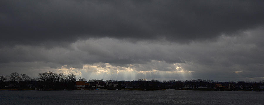 Storm Photograph - Wide View by Dennis James