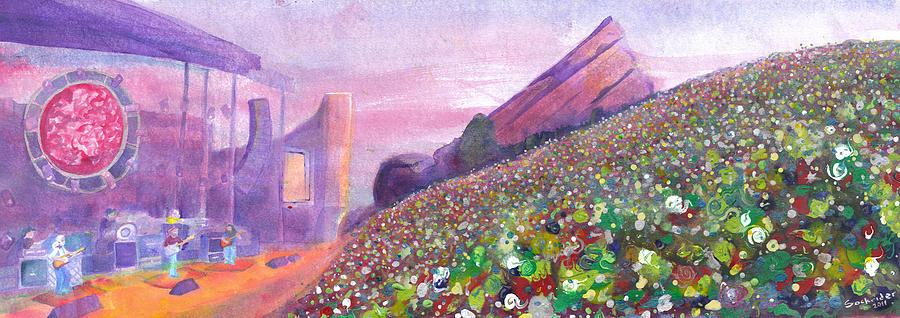 Widespread Panic Painting - Widespread Panic At Redrocks by David Sockrider