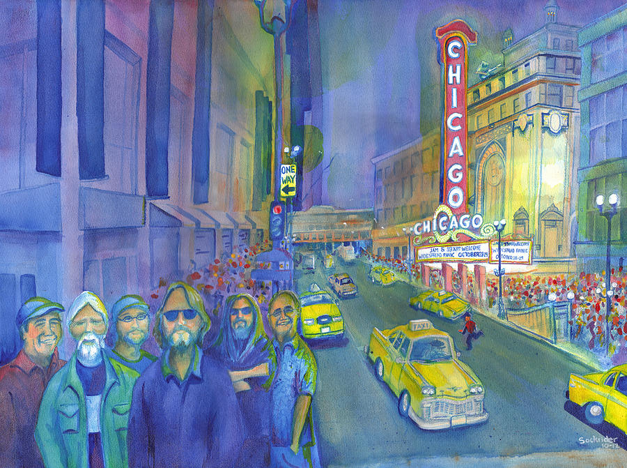 Widespread Panic Painting - Widespread Panic Chicago  by David Sockrider