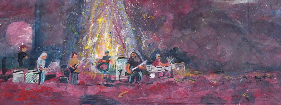 Widespread Panic Painting - Widespread Panic Painted Live  by David Sockrider