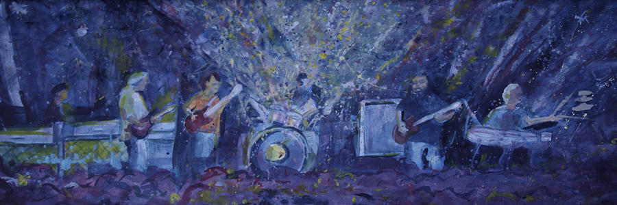 Panic Painting - Widespread Panic Painted Live Two by David Sockrider